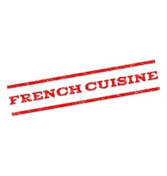 French Cuisine Watermark Stamp vector