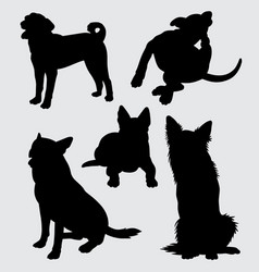 german shepherd and kind of dog silhouette vector image