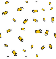 glass beer seamless pattern vector image