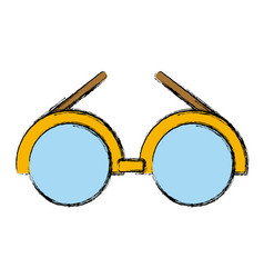 Glasses round frame symbol vector