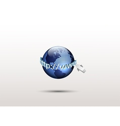 Global internet technology vector image