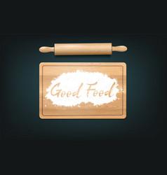good food on board vector image