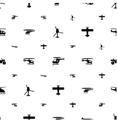 Helicopter icons pattern seamless white background vector