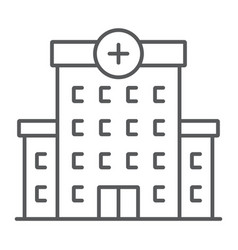 Hospital thin line icon architecture and building vector