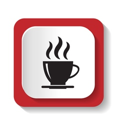 icon with a cup of coffee vector image
