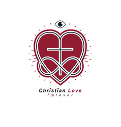 immortal love of god conceptual symbol combined vector image