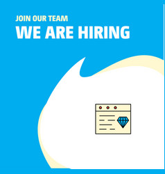 Join our team busienss company jewellery on vector