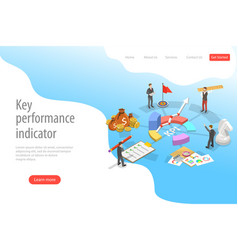 key performance indicator flat isometric vector image