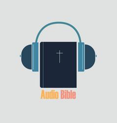 Listen audio bible vector