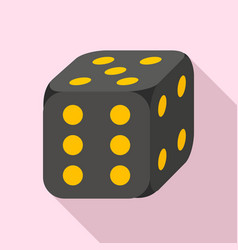 lucky dice icon flat style vector image