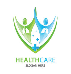 lungs care logo designs clinic logo vector image