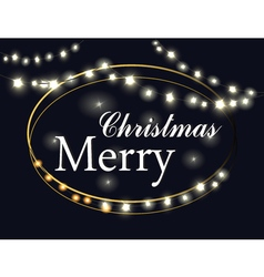 Merry Christmas Lights vector