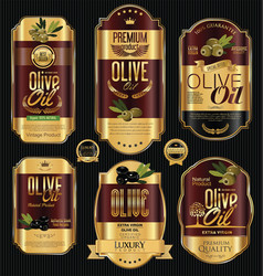 olive oil retro vintage background collection 4 vector image