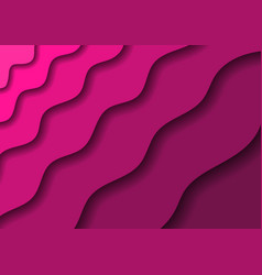 paper cut banners with 3d abstract background vector image