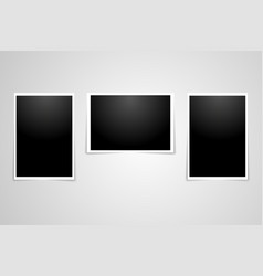 photo realistic dark poster set template vector image