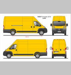 Ram promaster cargo delivery van l4h3 2018 vector