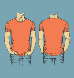 red t-shirt template vector image