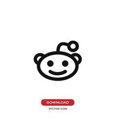 reddit alien head logo icon vector image