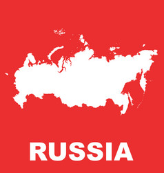 Russia map flat of russian federation vector
