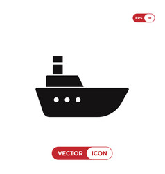 sea ship icon vector image