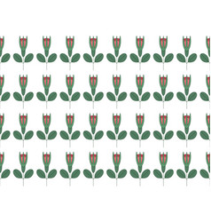 Seamless pattern with rows roses vector