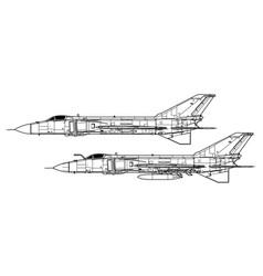 Shenyang j-8 ii finback b vector