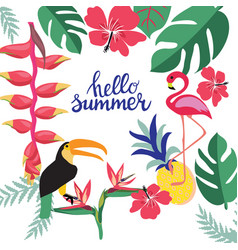 summer background with theme of summer holiday vector image