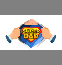 Super dad sign father s day superhero vector