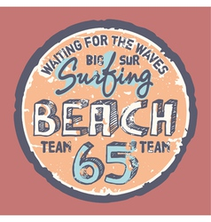 Surfing beach vector