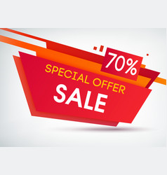 trapeze sale shopping poster vector image
