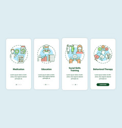 Treatments for adhd in adults onboarding mobile vector