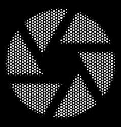 white pixel shutter icon vector image