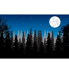 Wood moon in the night vector image