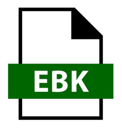 file name extension ebk type vector image vector image