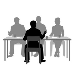 interview panel vector image vector image