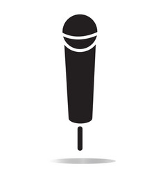 microphone icon on white background flat style vector image