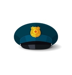 Police hat officer cop cap vector image