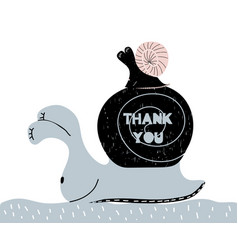 thank you quote inspirational hand written vector image