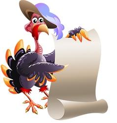 Turkey with blank note vector image