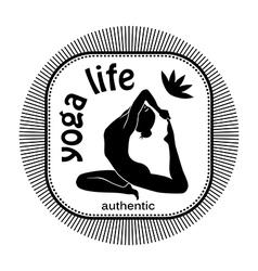 yoga life vector image vector image