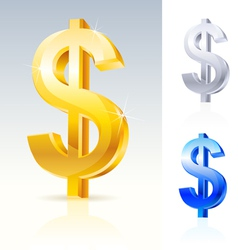 abstract dollar sign vector image vector image