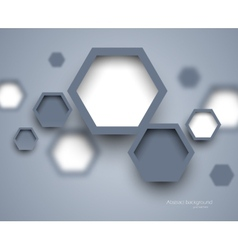 Abstract science gray background vector image