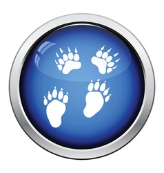 Bear trails icon vector image vector image