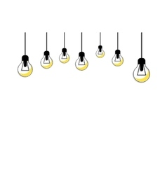 Glowing Yellow Light Bulb Idea Concept vector image