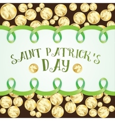 Greeting card for st patrics day vector