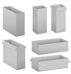 Grey box set vector image vector image