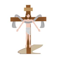 jesus christ sacred cross vector image vector image
