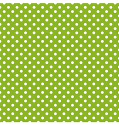 Seamless spring green pattern with white polka dot vector image vector image