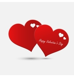 Valentine day abstract heart vector image vector image