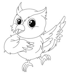 animal outline for owl vector image vector image